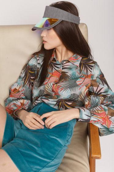 Женская блуза DERBY из тонкого хлопка с объемным рукавом