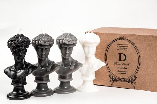 Кабинетная скульптура-свеча David в 5 цветовых вариантах