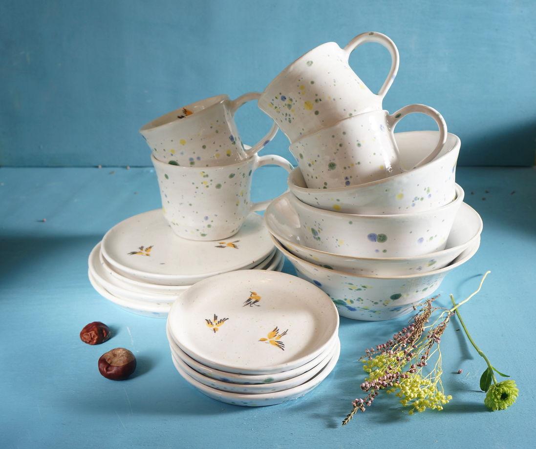 """Набор посуды """"Птички"""" 16 предметов (на 4 персоны)"""