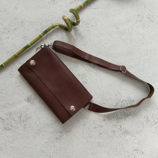 Кожаная поясная сумка