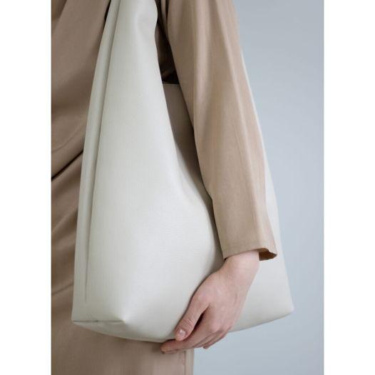 Кожаная сумка Hobo Cream