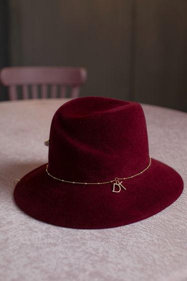 Шляпа Бретань из велюра