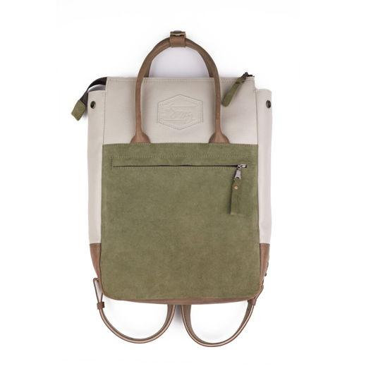 Кожаный рюкзак-сумка Urban Pack Cream/Sage