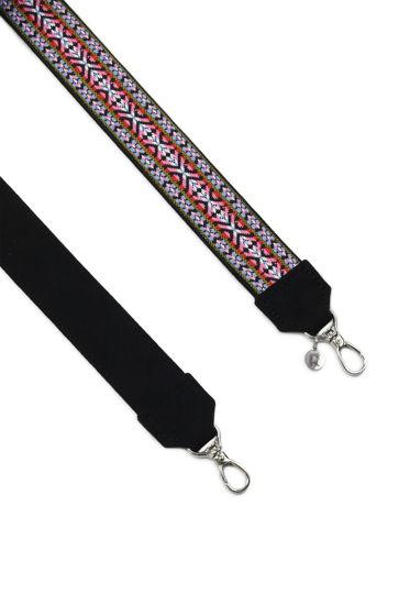 Ремень для сумки «розово-бело-голубой орнамент»