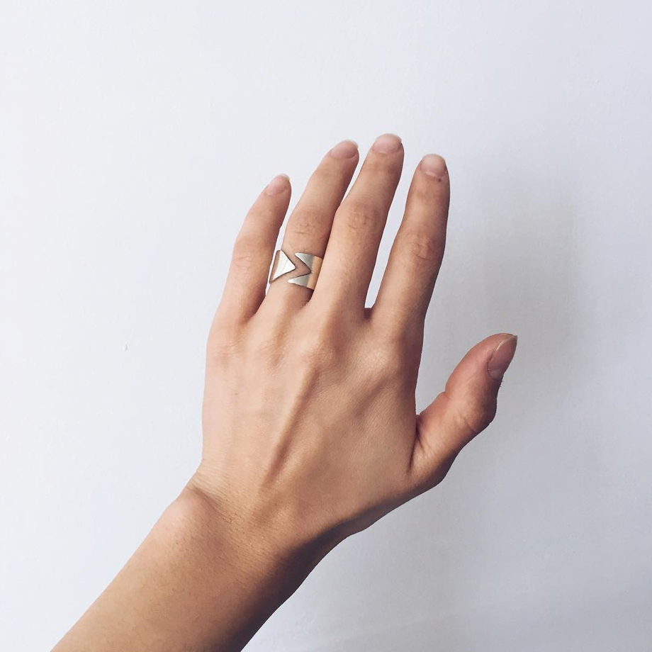 Кольцо из серебра Play