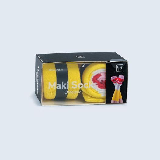 Носки в форме роллов DOIY Maki Omelette Roll Socks
