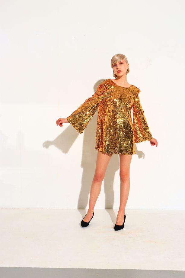 Золотое платье из пайеток