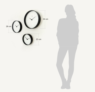 Часы деревянные настенные - MILTON / авторский дизайн и изготовление / Артикул: COLOR-S-07