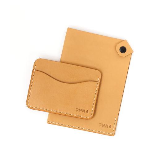 Чехол (обложка) для паспорта и кардхолдер из натуральной кожи
