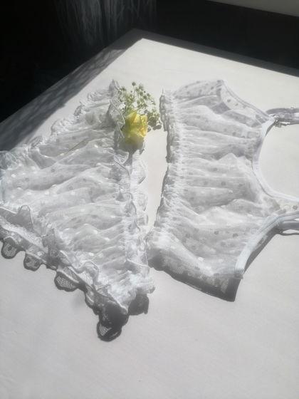 Воздушный комплект нижнего белья ручной работы