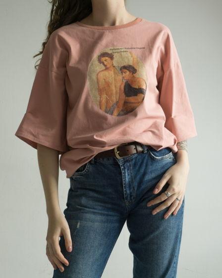 """Пудровая футболка """"Итальянская песня"""""""