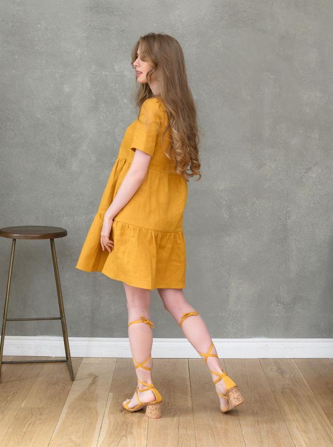 Летнее платье изо льна