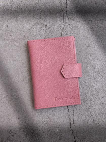 Обложка для автодокументов и паспорта Розовый