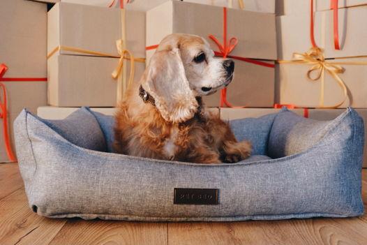 Лежанка Pet Bed М серая