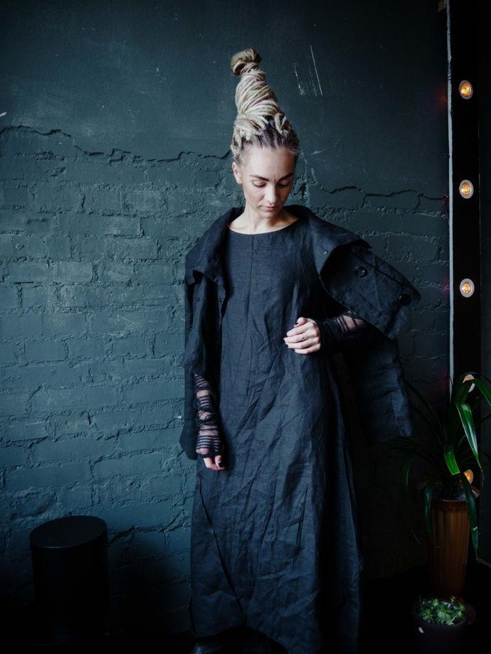 Платье из варёного льна