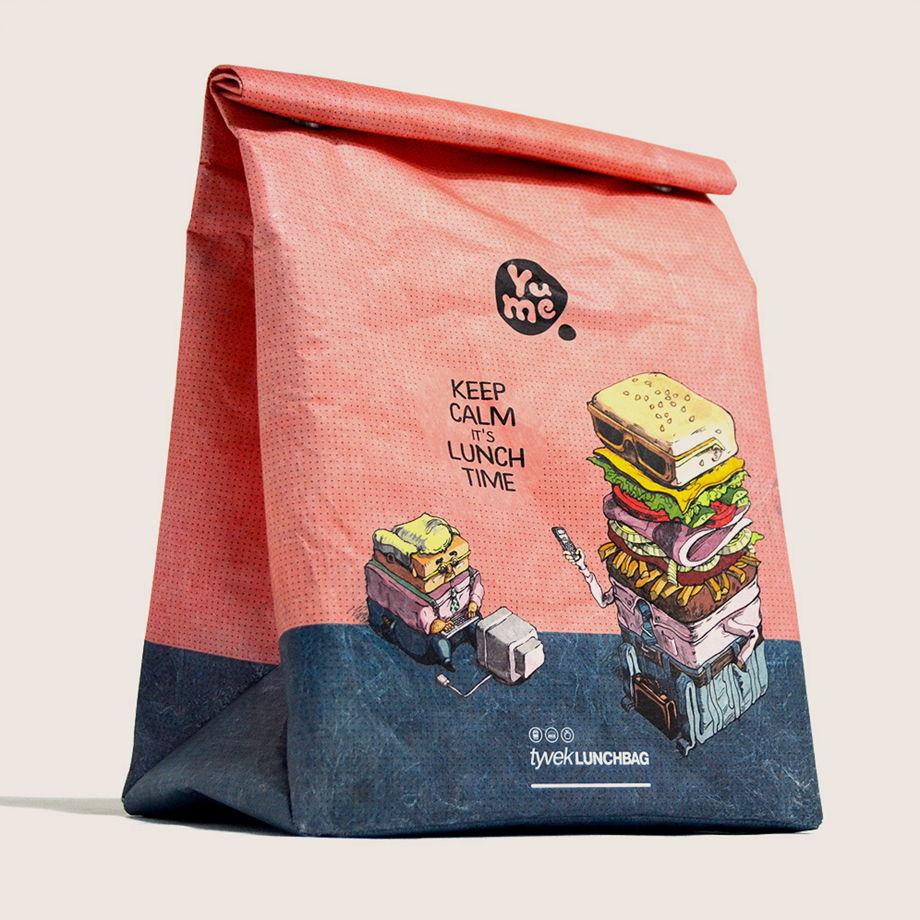 Термосумка Paper Lunch Bag Burgers от YuMe