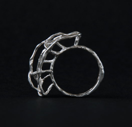 "Серебряное кольцо ""Clamps"""