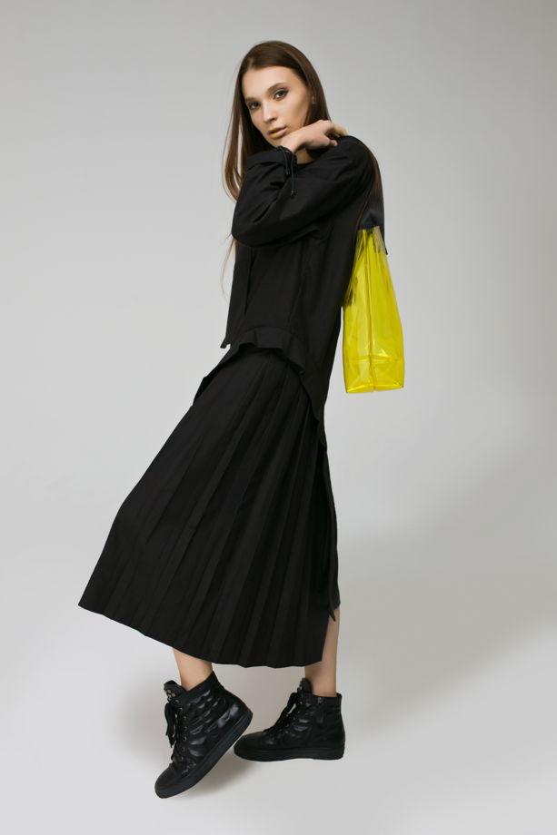 """Черное платье со складками """"ASYMMETRY"""""""