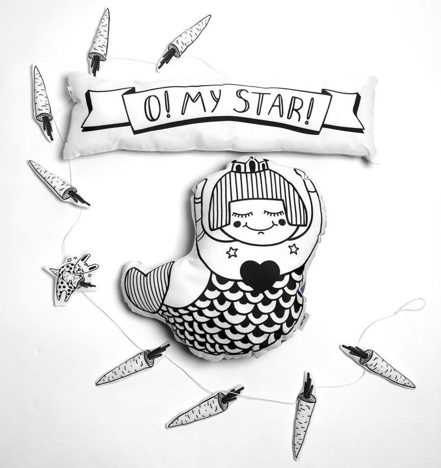 Подушка декоративная Русалка «Моряша» из коллекции «O! My star!» - подарок на 14 февраля.