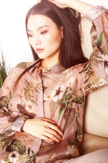 Блуза DERBY шелковая бежевая
