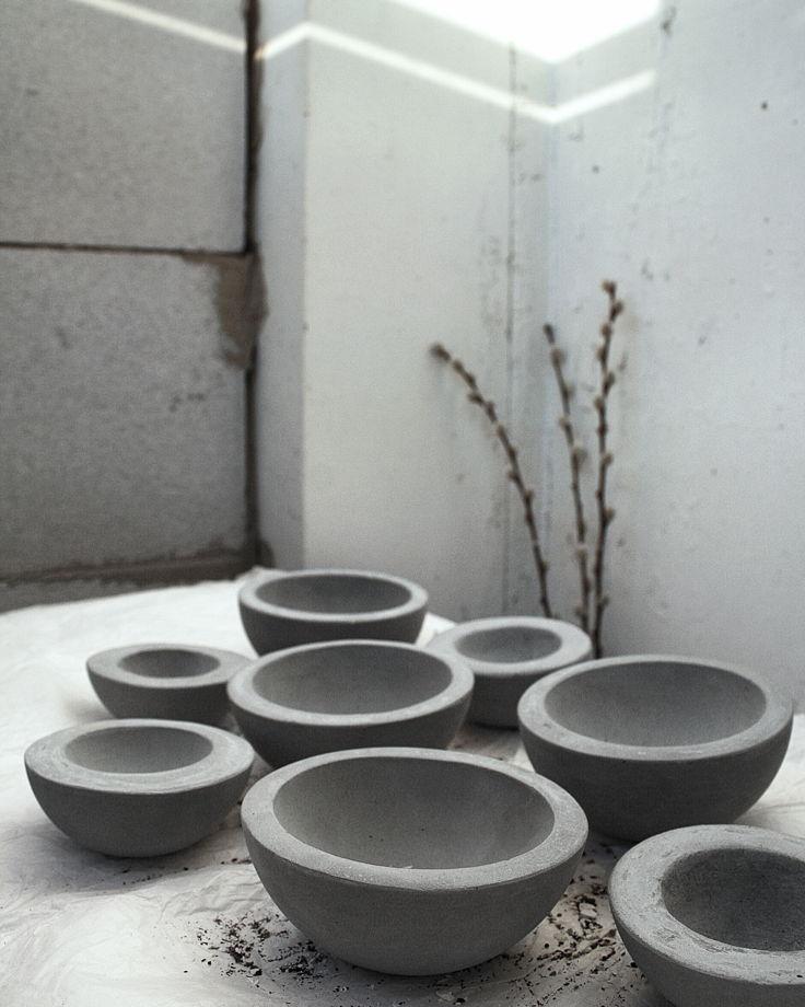 Пиала малая из бетона   коллекция basic