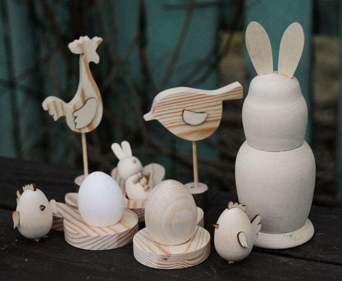Заяц открывающийся деревянный шкатулка-фигурка