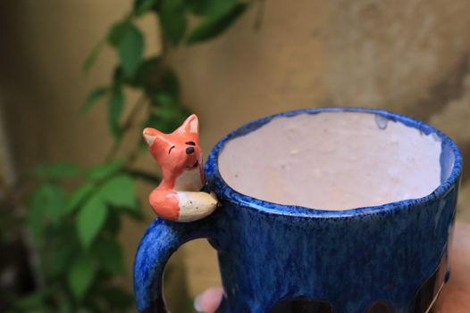 """Чашка с лисом цилиндр из серии """"Маленький принц"""""""