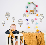 """Виниловые наклейки на стену """"Ретро шары нейтральные"""" (малые)"""