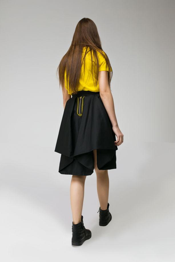 "Ярко-желтая женская футболка ""DANGER"""