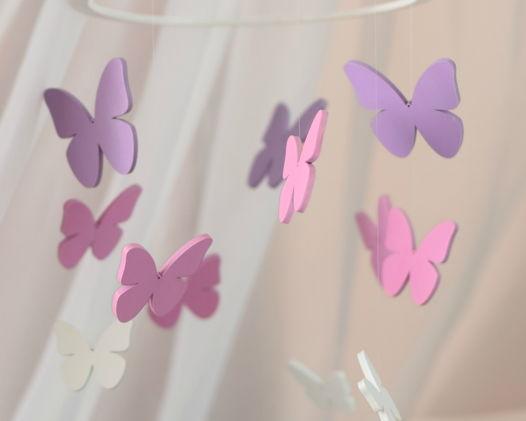 Мобиль в кроватку Розовые Бабочки