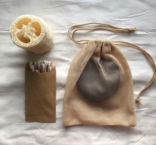 Набор биоразлогаемых ватных палочек с бамбуковым стержнем