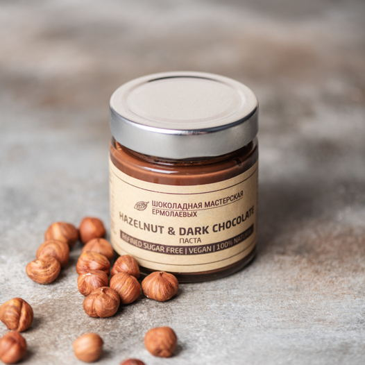 Шоколадно - ореховая паста DARK CHOCOLATE & HAZELNUT