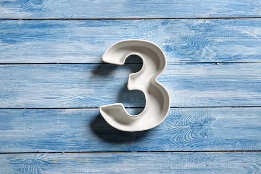 Керамическая цифра 3 (три)