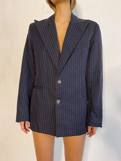 Пиджак в полоску из шерсти KATEPETROV унисекс.