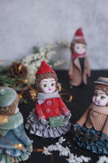 Куклы декоративные ручной работы из полимерной глины