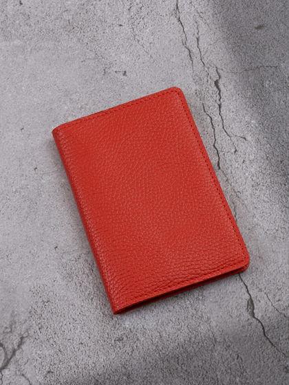 """Обложка для паспорта """"Verona"""" Гермес Красный"""