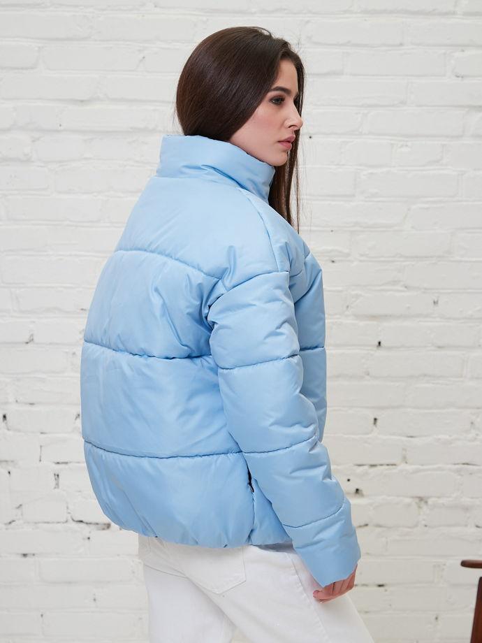 куртка oversize  голубая женская