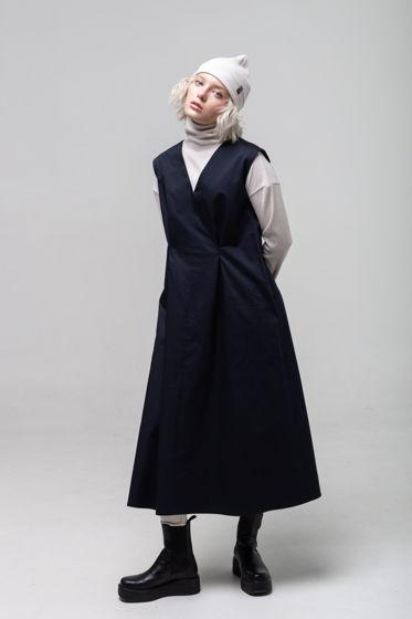 Платье-сарафан с вырезом