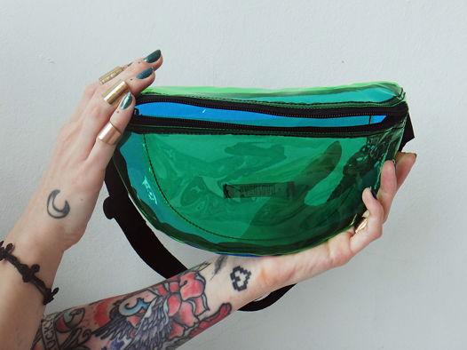 Зелено-синяя поясная сумка GVOZDEVA