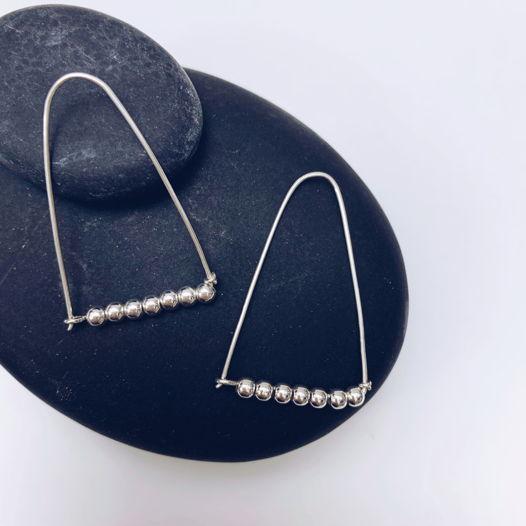 Серебряные серьги ИНДИ