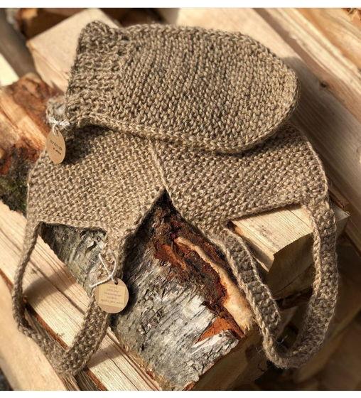 Набор из джутовых мочалок с льняным мешочком