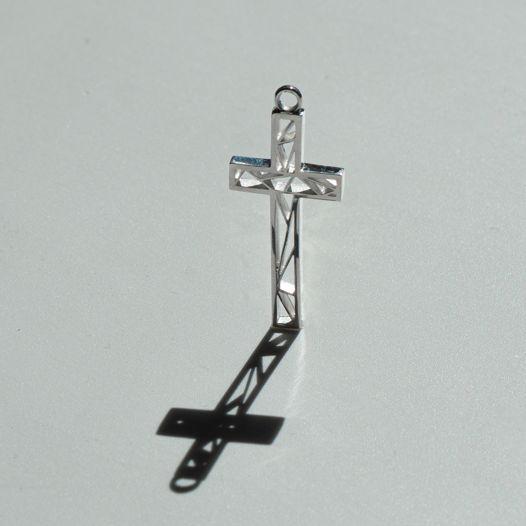 Серьги-подвеска крест ДОМИНИК унисекс