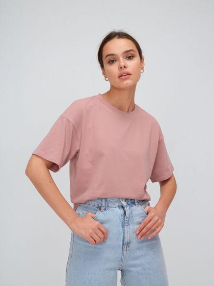 Базовая футболка из хлопка прямого кроя