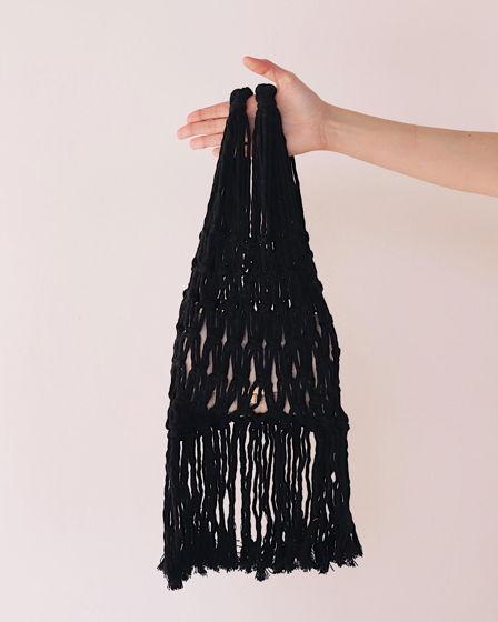 Хлопковая сумка авоська черная