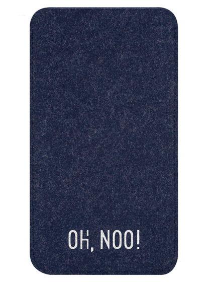 Чехол из фетра для iPhone и телефонов, синий
