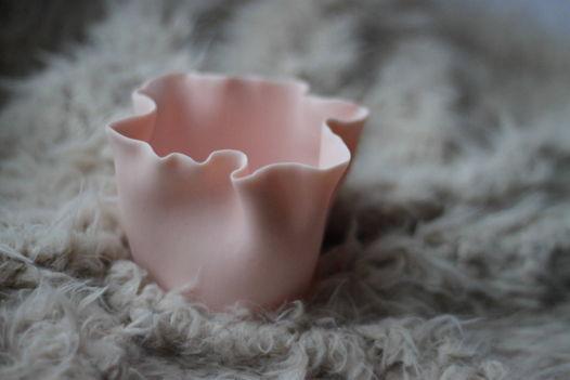 Подсвечник Бутон розовый