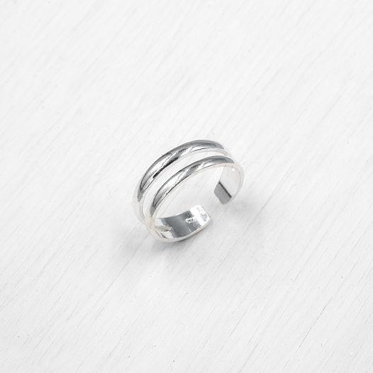 Универсальное серебряное кольцо 3 в 1