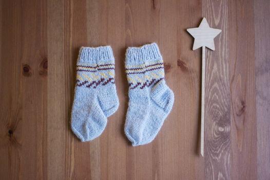 Детские носки из мягкой шерсти / Братец кролик