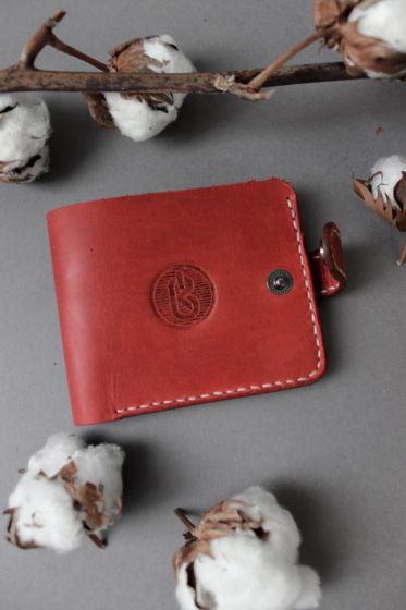 Кожаный бумажник Classix Red