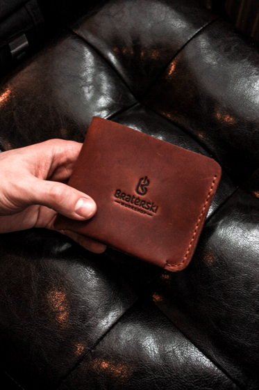Кожаный бумажник Basic Cognac